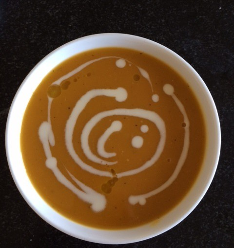 lightly spiced butternut squash sweet pot leek soup