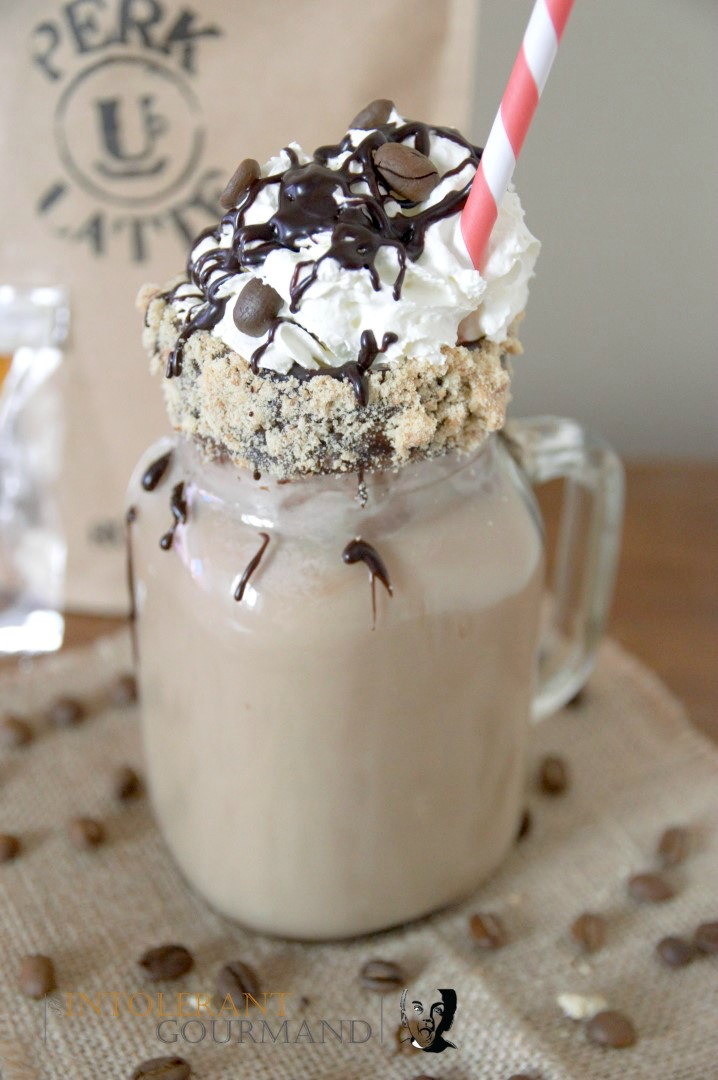 Mocha Freakshake - a delicious coffee take on the classic mocha, turned into a freakshake! Dairy-free, wheat-free, gluten-free, nut-free! www.intolerantgourmand.com