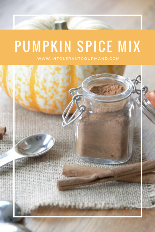 Pumpkin Spice Mix - perfect for crumble, latte, cheesecake, cake and more! www.intolerantgourmand.com