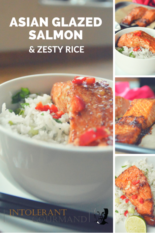 Asian Glazed Salmon Fillets with Zesty Rice