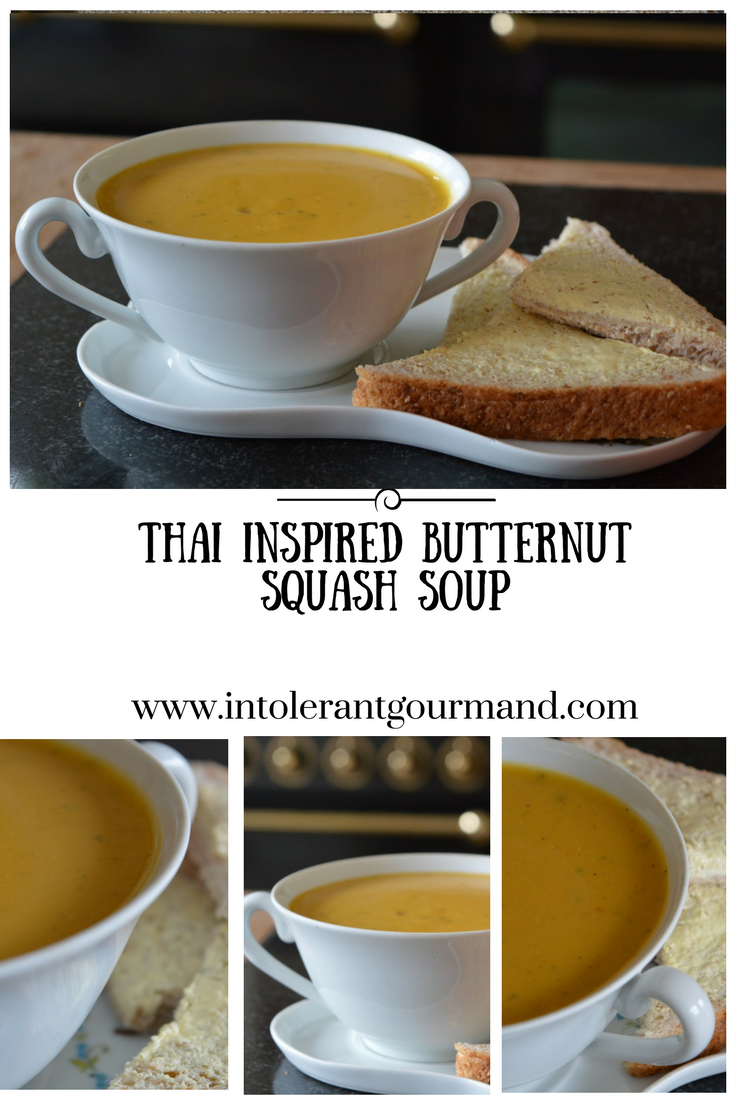 Thai inspired butternut squash soup