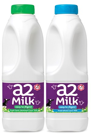 new packaging for a2 Milk