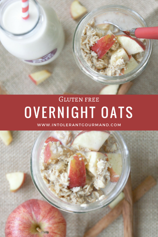 Overnight Oats - a super simple, super quick recipe, using gluten-free porridge oats and a2 Milk! Perfect for anyone following a gluten-free diet due to allergies and intolerances and also for those suffering with IBS! www.intolerantgourmand.com