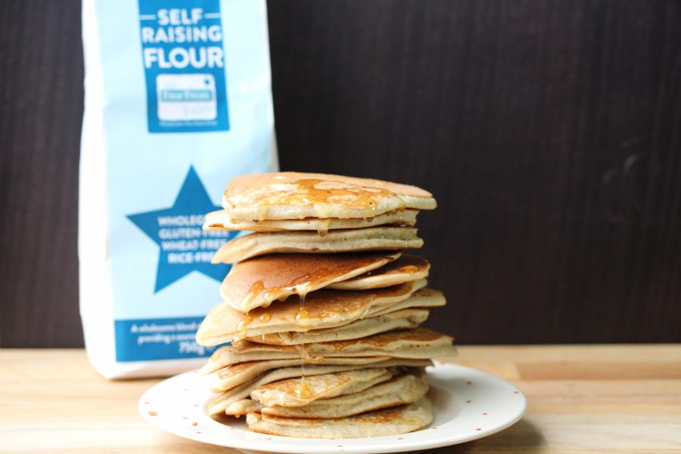 Free From Fairy pancake stack