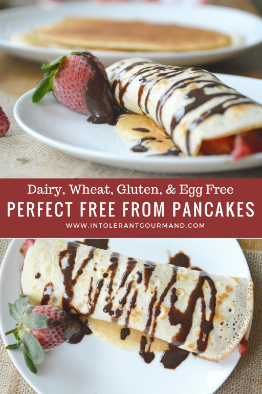Perfect Free From Pancakes - dairyfree, wheatfree, glutenfree, eggfree and still delicious! www.intolerantgourmand.com