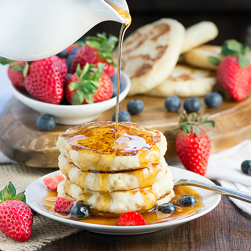 Ricotta Pancake stack - a truly delicious looking recipe from Charlotte's Lively Kitchen