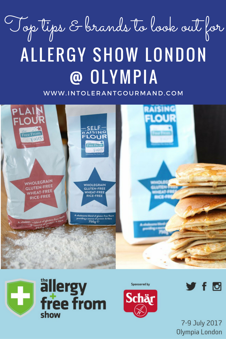 Allergy Show London 2017 - it's THE show to attend for allergies and intolerance! Packed full of stands with food, tips, advice, support and more! Dairy-free, wheat-free, gluten-free, nut-free, egg-free and more! www.intolerantgourmand.com