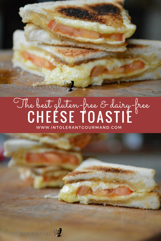 Cheese toasties - the humble cheese toastie has been trasnformed into a gluten-free and dairy-free delight and still looks just as good, if not better!! www.intolerantgourmand.com