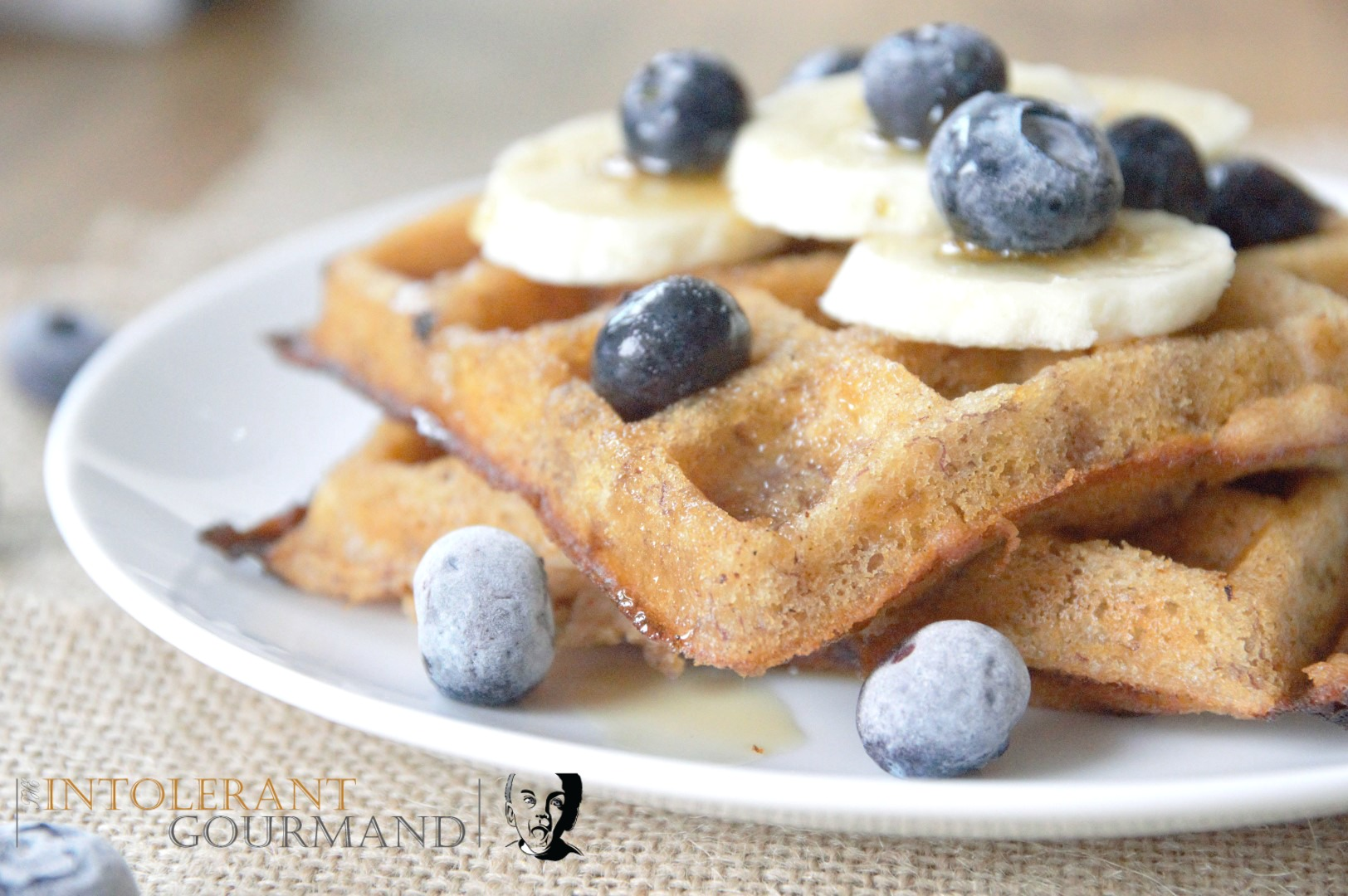 Oaty Waffles - a delicious alternative for breakfast that also happens to be gluten-free! It's simple and quick to make too, making it the perfect breakfast option! www.intolerantgourmand.com