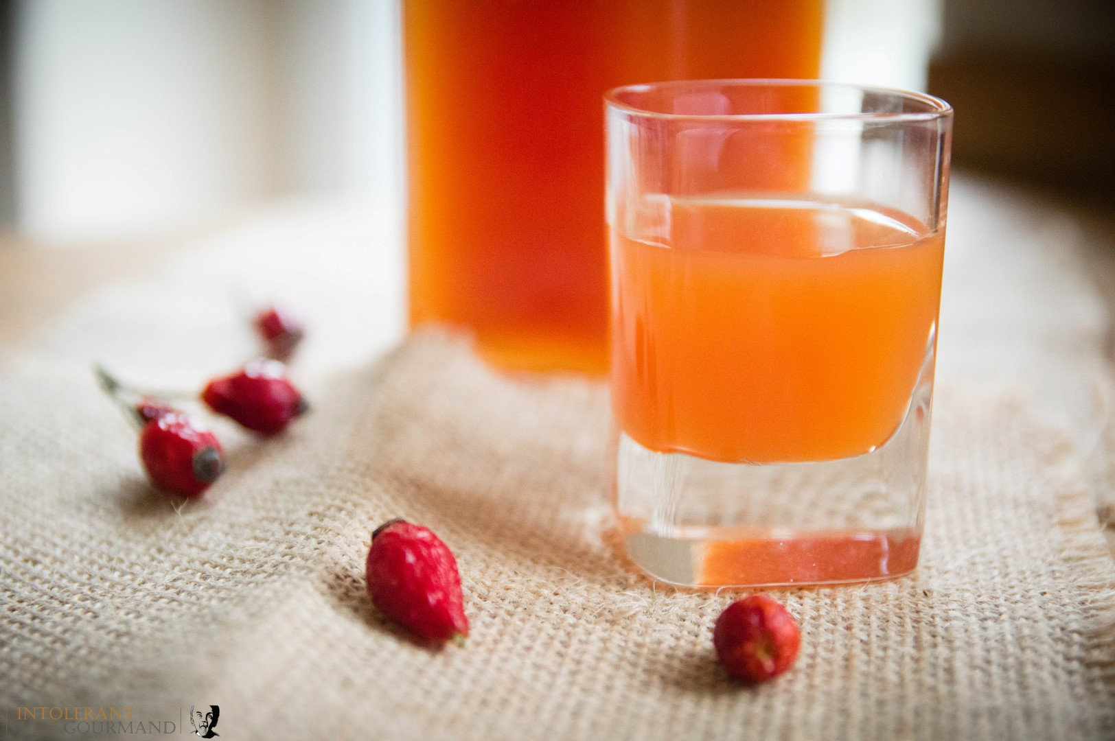 Rosehip Syrup - A fruity syrup with a comforting and warming flavour. Perfect on it's own, over pancakes or ice cream, stirred into porridge and so much more! www.intolerantgourmand.com