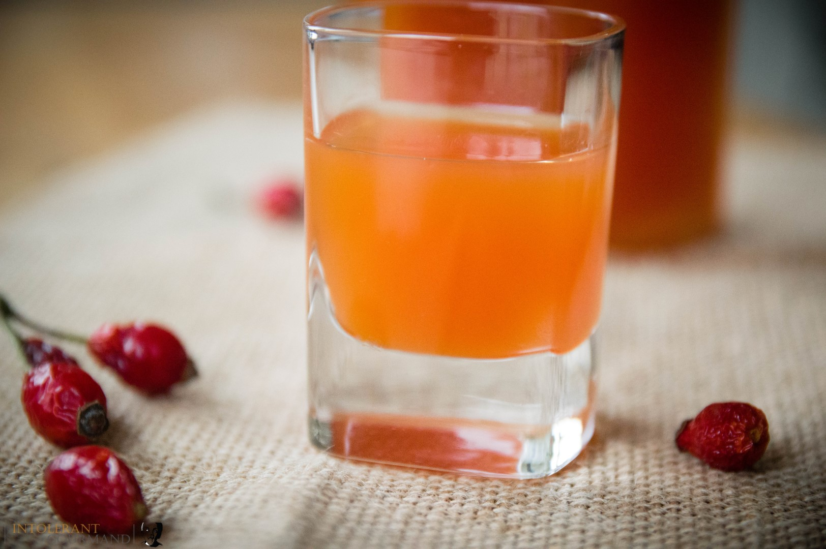 Rosehip Syrup - a delicious warm and comforting fruit syrup. Perfect on its own, stirred into porridge, poured over pancakes or ice cream and so much more! www.intolerantgourmand.com