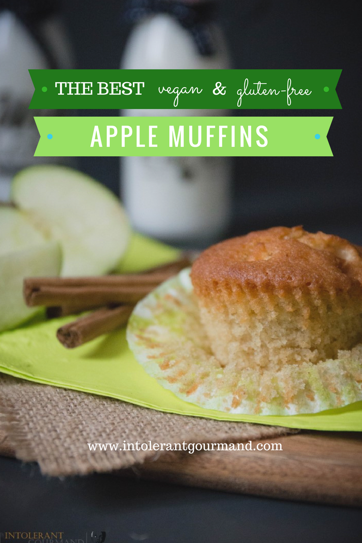 Apple Muffins - delicious vegan and gluten-free muffins, with a super fluffy and light sponge, comforting warmth from the spices and a natural sweetness from the apple! www.intolerantgourmand.com