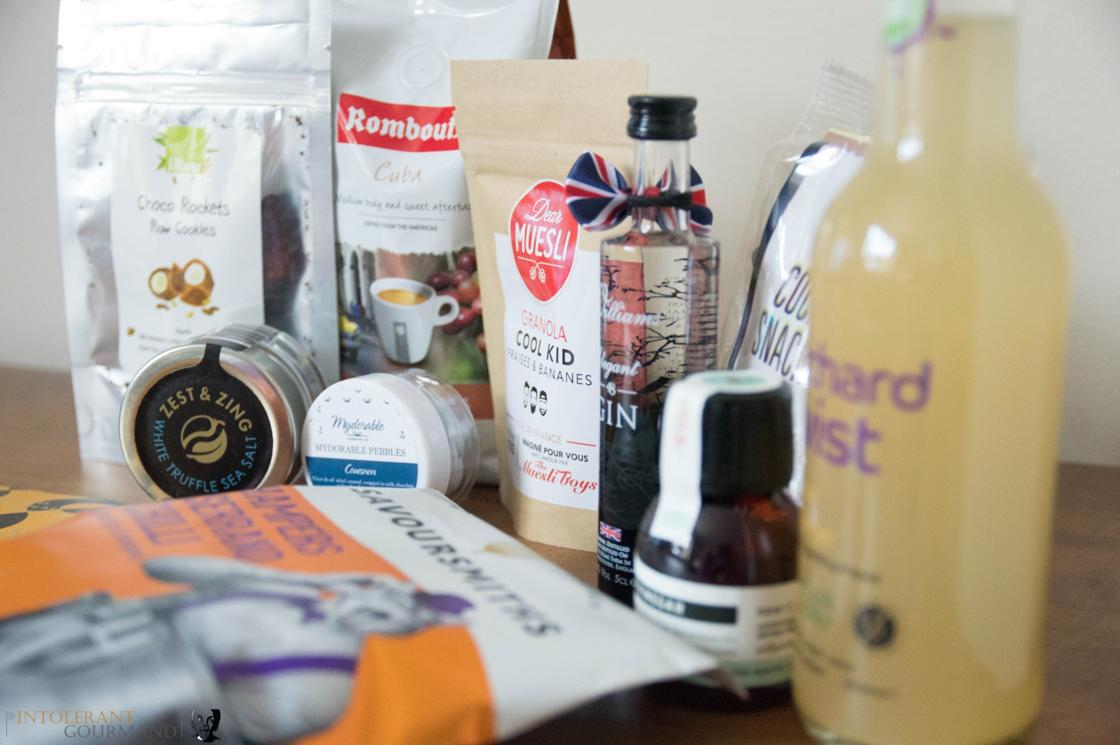 Speciality Fine Food Giveaway - a selection of stunning food and drink products, including gin, chocolate, truffle salt, coffee, granola and more! All of these items were featured at the Speciality & Fine Food Fair 2017! We're giving you the chance to try them yourself! www.intolerantgourmand.com