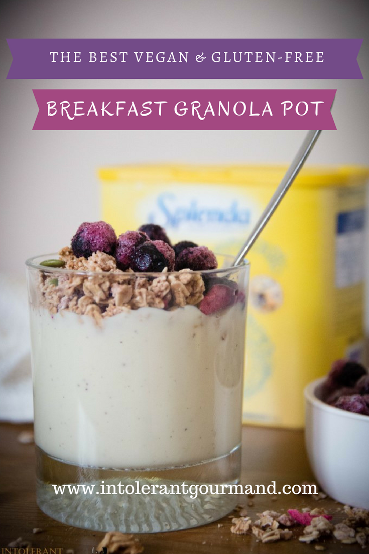 Breakfast Granola Pots - vegan, gluten-free and nut-free and super simple to make yet still delicious! www.intolerantgourmand.com