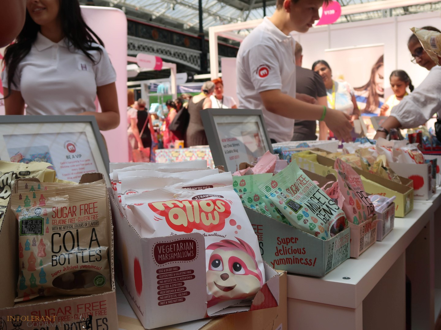 Freedom Mallows VIP Pack - the Freedom Confectionery stand at Allergy Show London 2018! www.intolerantgourmand.com