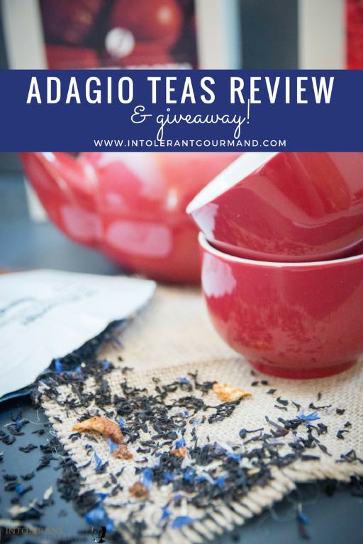 Adagio Teas - a fantastic collection of herbal, fruit, chai tea and more! Punchy flavours, stunning aromas, and your chance to get your hands on some too! www.intolerantgourmand.com