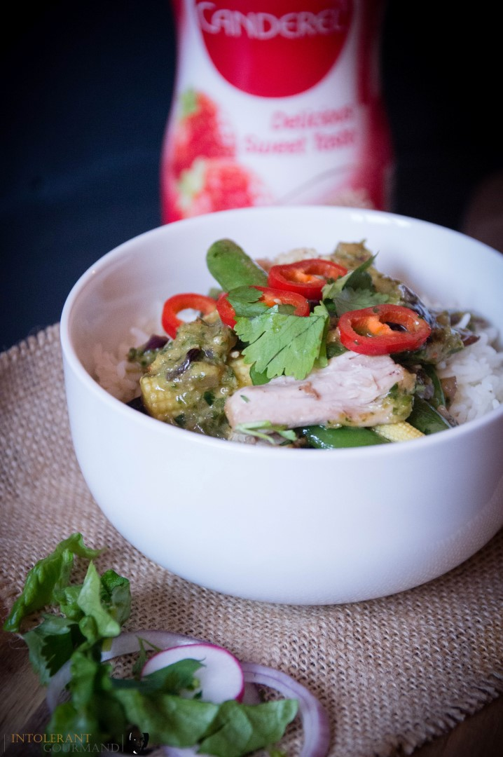 Thai Chicken Curry - a delicious and vibrant dish packed full of flavours from fresh chilli, coriander, ginger and more! Dairy-free, gluten-free and it takes just 30 minutes to make from start to finish! www.intolerantgourmand.com