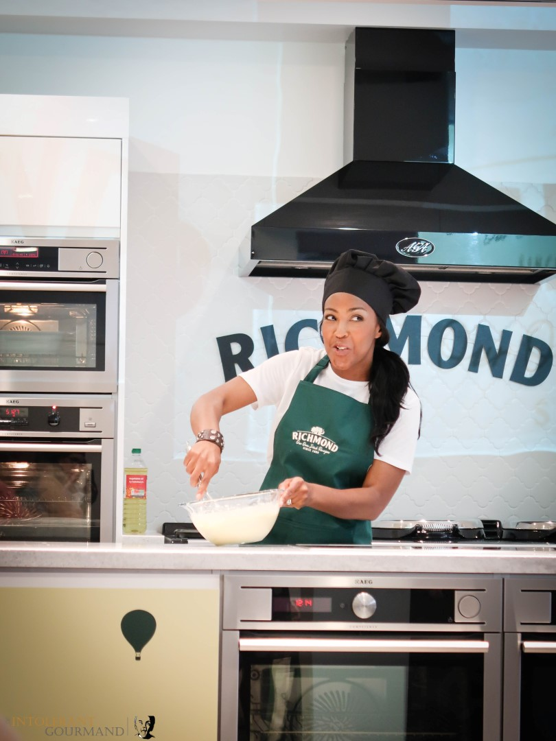 Richmond Chicken Sausages - celebrating the launch of the new Richmond Chicken Sausages with the lovely Angellica Bell, celebrity winner of Masterchef! www.intolerantgourmand.com