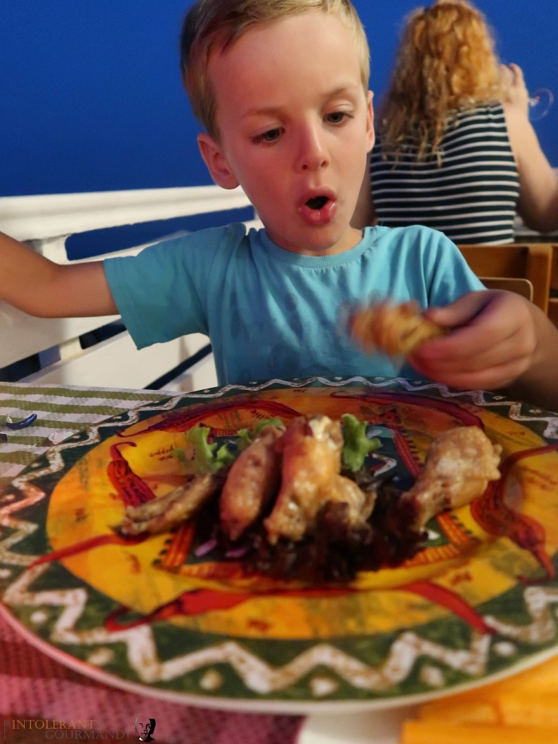 Rixos Sungate Kemer Antalya with Jet 2 Holidays - mexican food, little boy tucking in to a lovely meal. www.intolerantgourmand.com