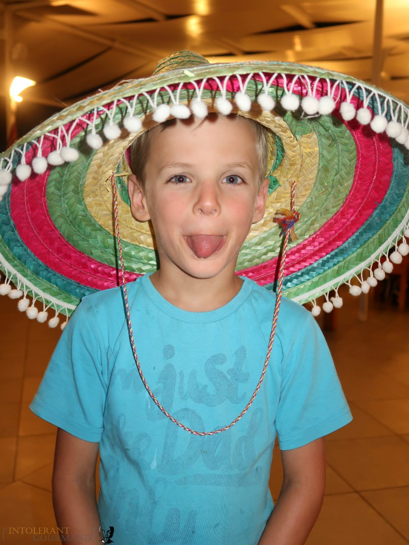 Rixos Sungate Kemer Antalya with Jet 2 Holidays - little boy wearing mexican hat. www.intolerantgourmand.com