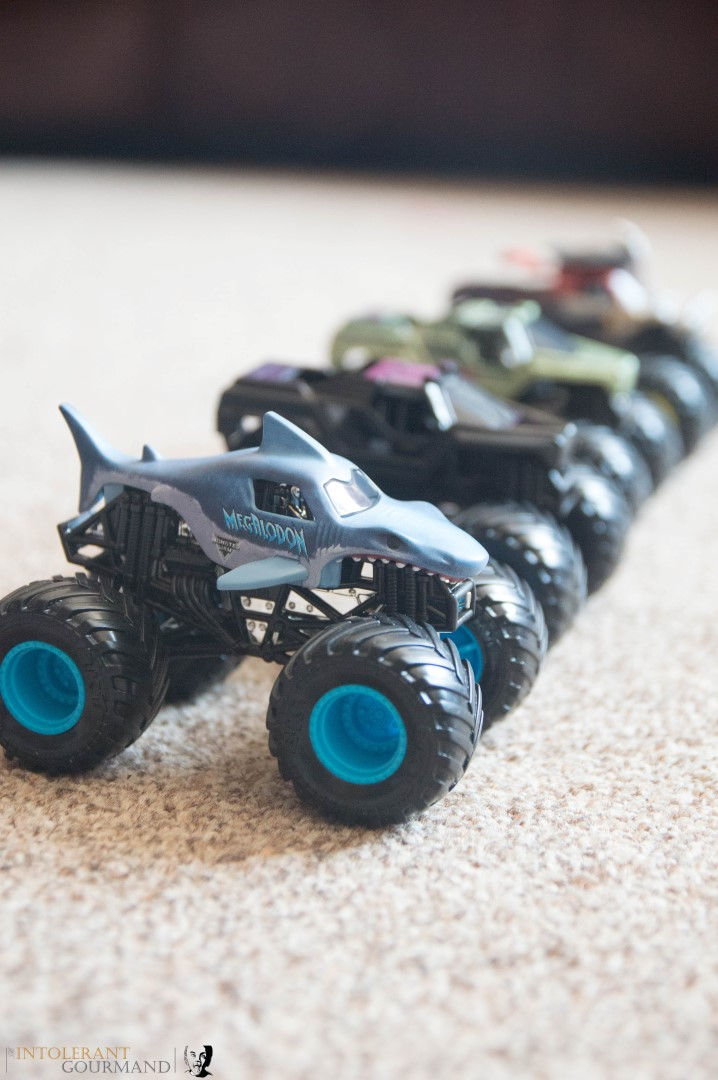 Spin Master Monster Jam Collection - a collection of 1:64 scale die cast Monster Jam Monster Trucks! www.intolerantgourmand.com