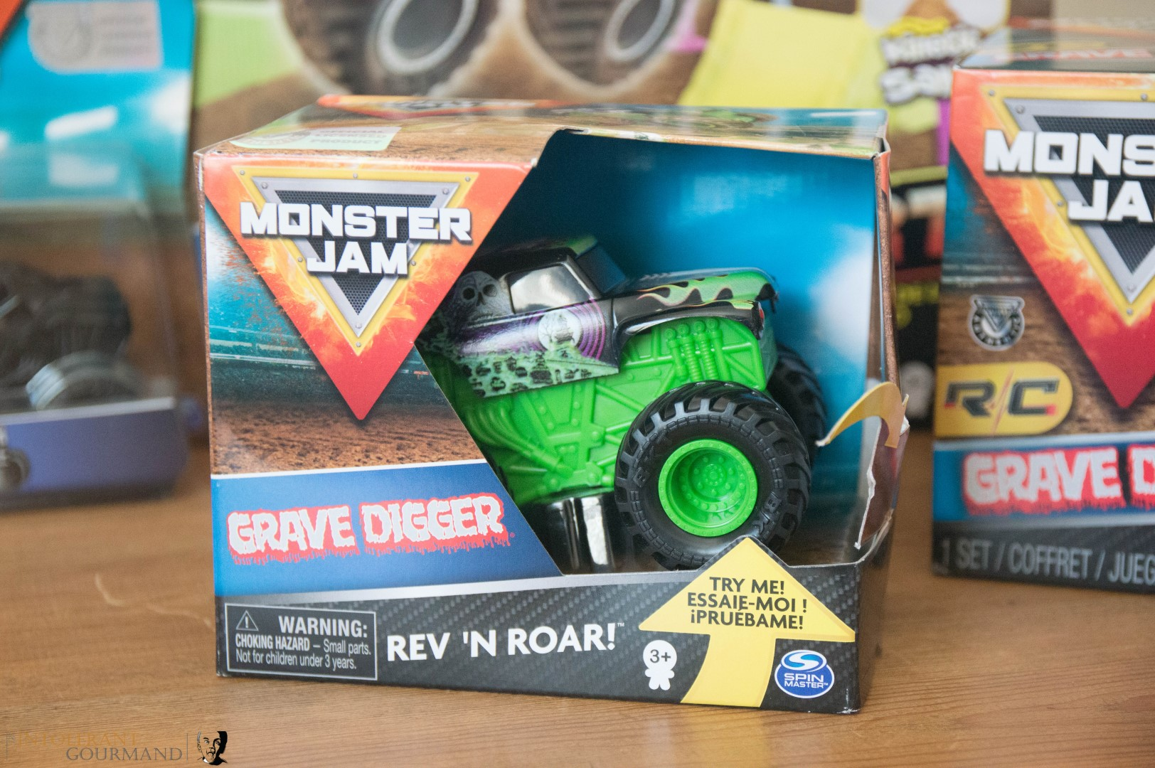 Spin Master Monster Jam Collection - Grave Digger Rev n Roar Monster Jam Monster Truck! www.intolerantgourmand.com