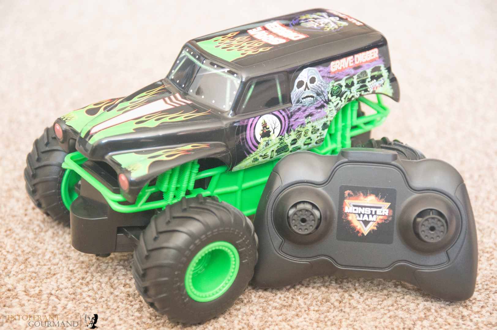 Spin Master Monster Jam Collection - remote control Grave Digger Monster Truck. www.intolerantgourmand.com